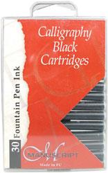 Kalligrafipatron Manuscript Black 30-p MC0401CB