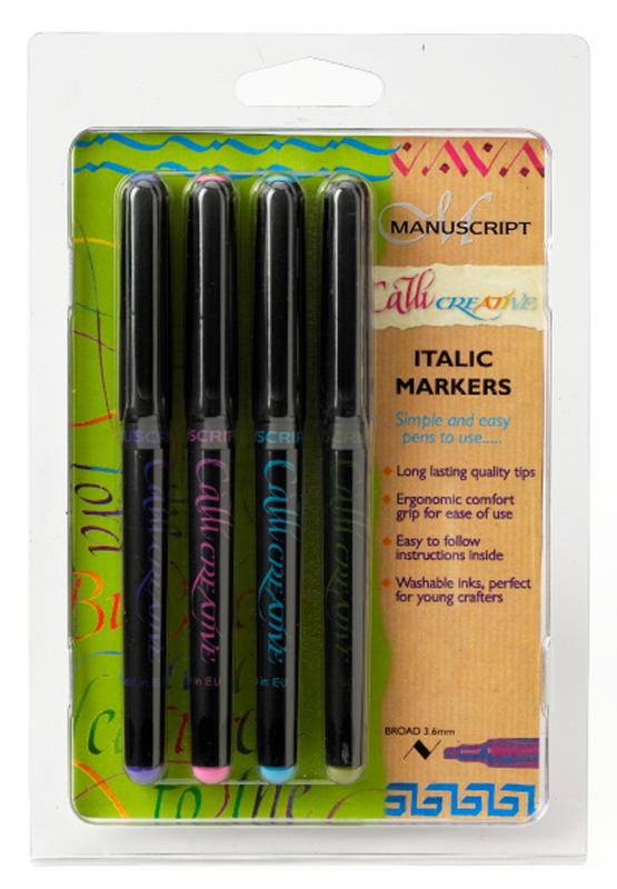 Kalligrafipenna Manuscript 4 sorterade färger 3,6mm MM6601