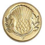 Sigill Manuscript Coin Thistle (5F) MSH727THI utgår