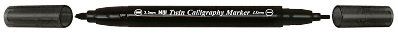 Kalligrafipenna NiJi Twin Calligrafi Svart VB