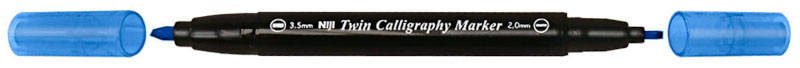 Kalligrafipenna NiJi Twin Calligrafi Blå VB