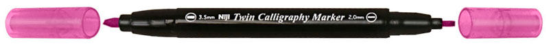 Kalligrafipenna NiJi Twin Calligrafi Rosa VB