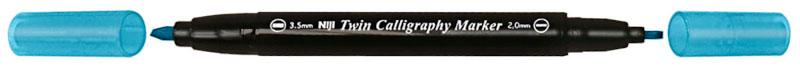 Kalligrafipenna NiJi Twin Calligrafi Ljusblå VB
