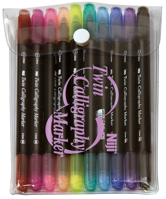 Kalligrafipenna NiJi Calligrafi VB, 10-pack