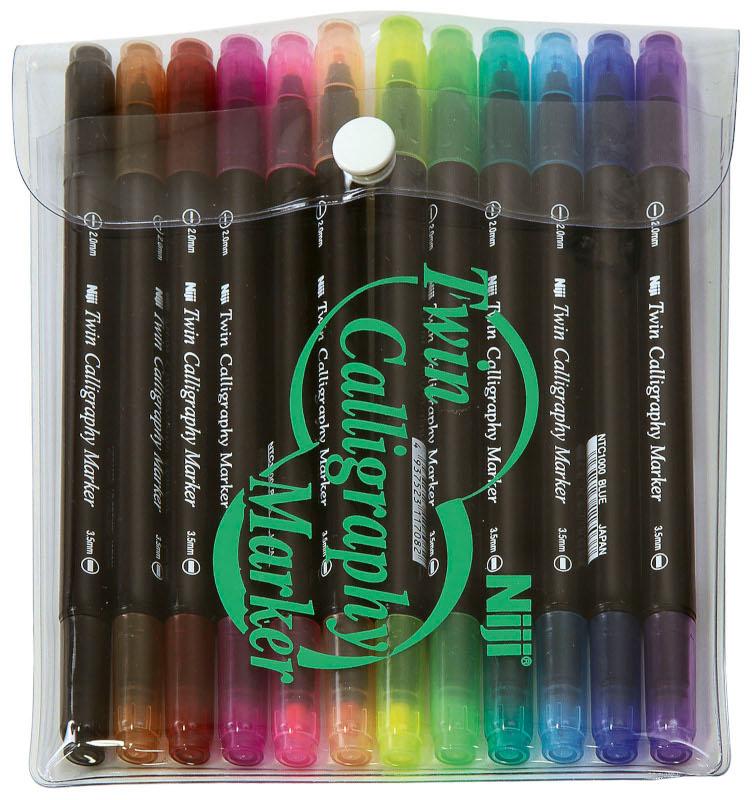 Kalligrafipenna NiJi Calligrafi VB, 12-pack