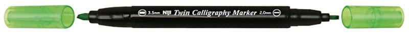 Kalligrafipenna NiJi Twin Calligrafi Ljusgrön VB