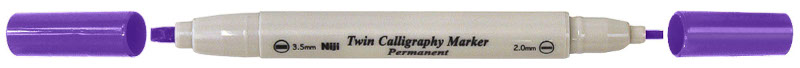 Kalligrafipenna NiJi Twin Calligrafi Viol Perm.