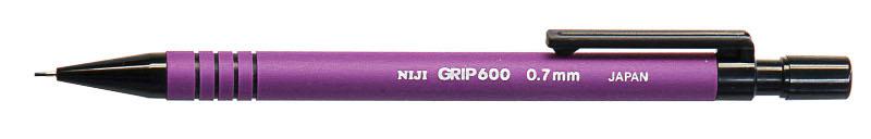 Stiftpenna Niji Grip 600 Lila, 0,7 (12F)