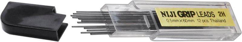 Stiftpenna Niji Blymina 2H, 0,5 (12F)