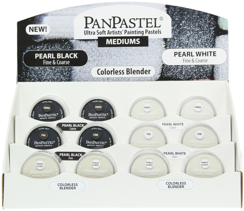 PanPastel Counter Tray Mediums - Pearl Mediums (Totalt 36st)