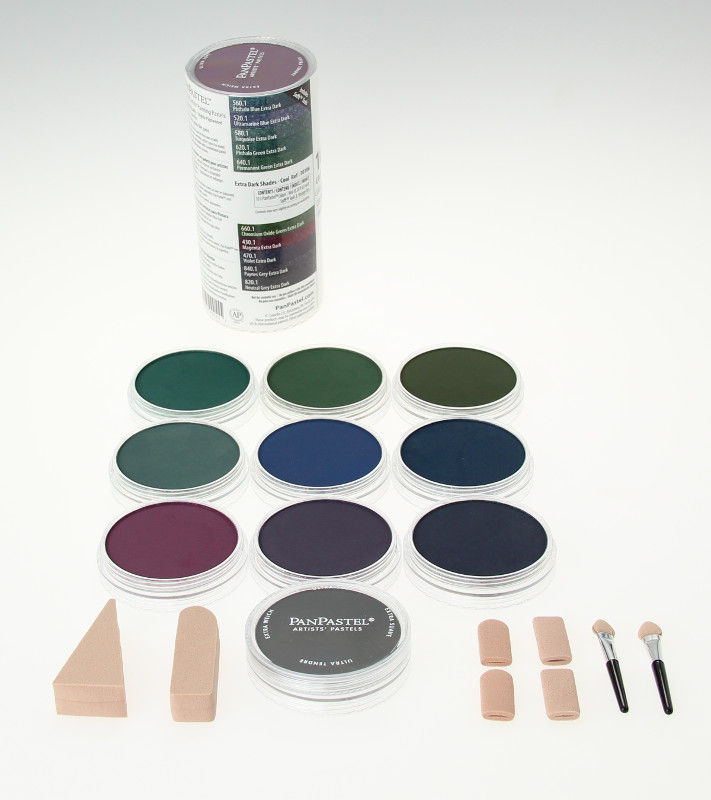 PanPastel Extra Dark Shades - Cool 10 Color Sets