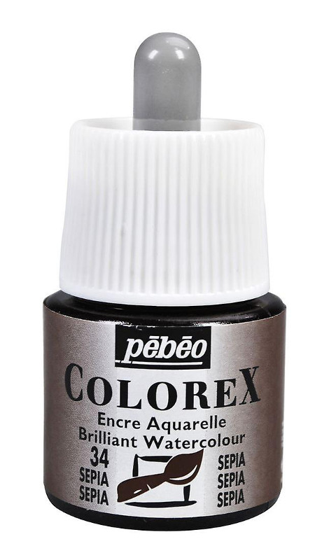Tusch Pebeo Colorex Ink 45ml Sepia 034 (5F)