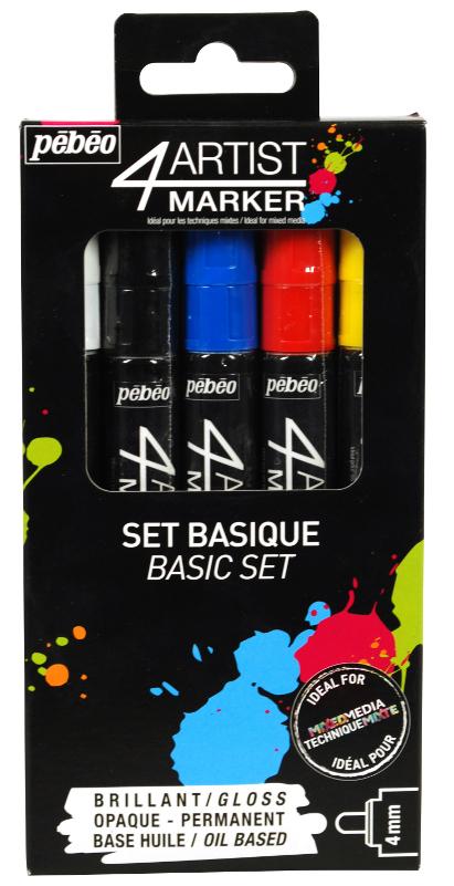 Oljebaserad Marker Pebeo 4Artist Marker Set 5x4mm Basic