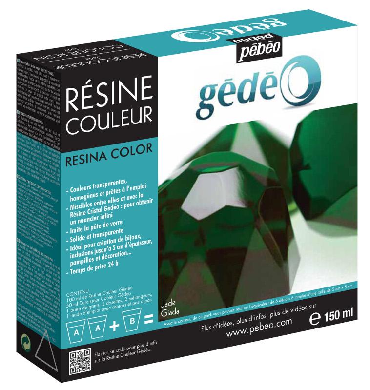 Resin Epoxi Pebeo Colour Resin kit 150ml Jade