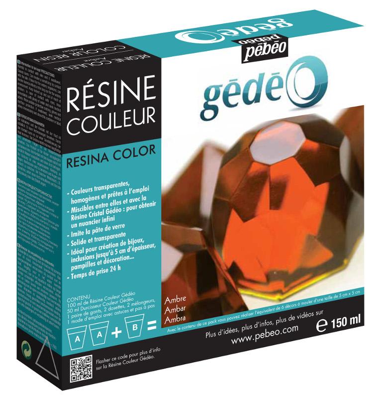 Resin Epoxi Pebeo Colour Resin kit 150ml Amber