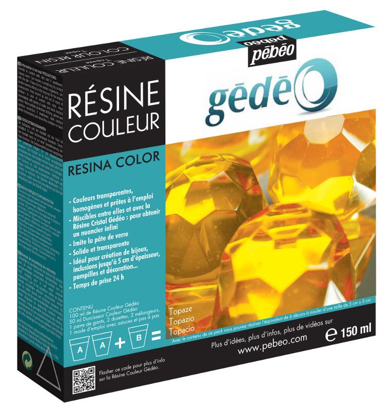 Resin Epoxi Pebeo Colour Resin kit 150ml Topaz