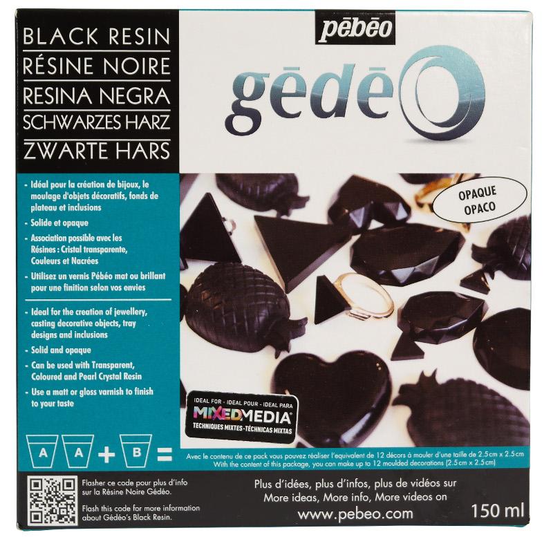 Resin Epoxi Pebeo Black Crystal Resin kit 150ml