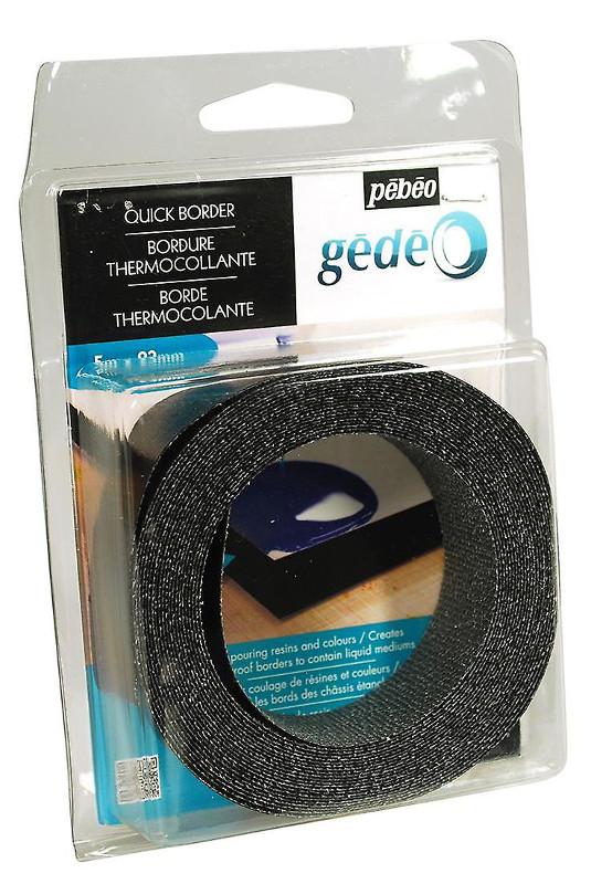 Pouringtillbehör Pebeo Svart PVC band 5m x 23mm (3F) utgår