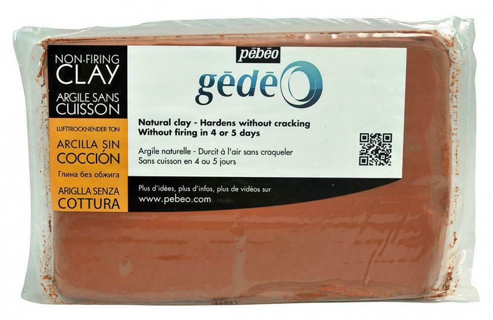 Lera Pebeo Gédéo Non-Firing Modelling Clay Loaf Red 1,5 kg (4F)