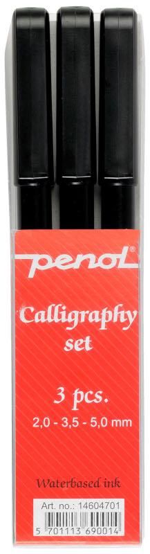 Kalligrafipenna Penol Calligraphy Set 3 pennor (20F)