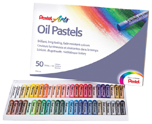Oljepastellset Pentel 50kritor  PHN4-50