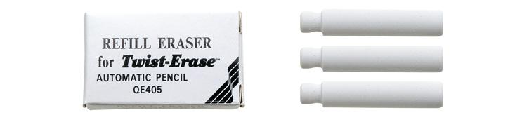 Suddigum  Pentel  E10 Twist Erase Radergummi 3-p