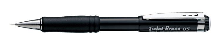 Stiftpenna  Pentel QE515 Twist Erase  0,5mm svart