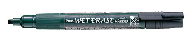 Penna Pentel Wet Erase Chalk Marker svart SMW26-A
