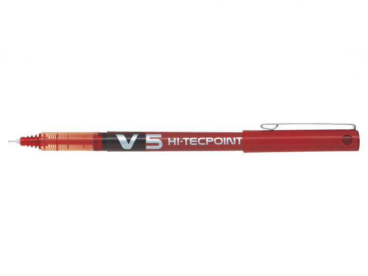 Kulspetspenna Pilot Hi-Tecpoint V5 <RT> röd BXRT-V5-R