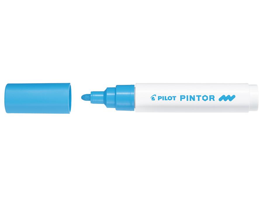 Fiberpenna Pilot Pintor - Medium - Ljusblå (6F)