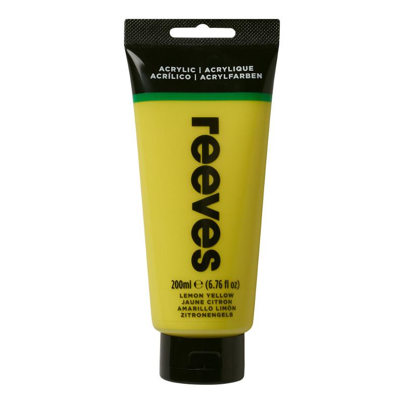 Akrylfärg Reeves 200ml Lemon yellow 100 (3F)