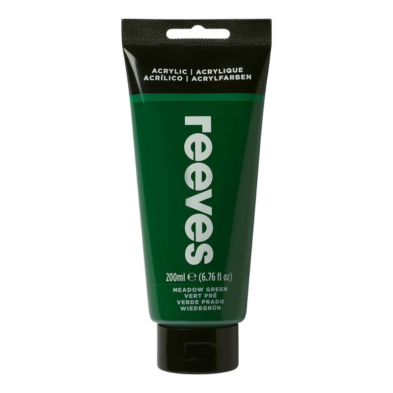Akrylfärg Reeves 200ml GRASS GREEN 440 (3F)