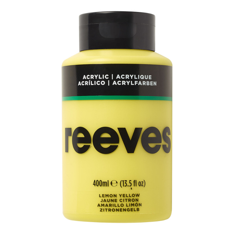 Akrylfärg Reeves 400ml LEMON YELLOW 100