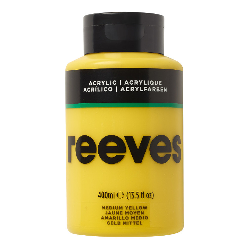Akrylfärg Reeves 400ml MEDIUM YELLOW 120