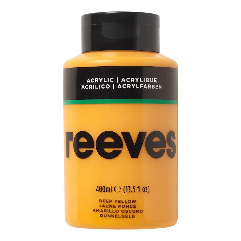 Akrylfärg Reeves 400ml DEEP YELLOW 130