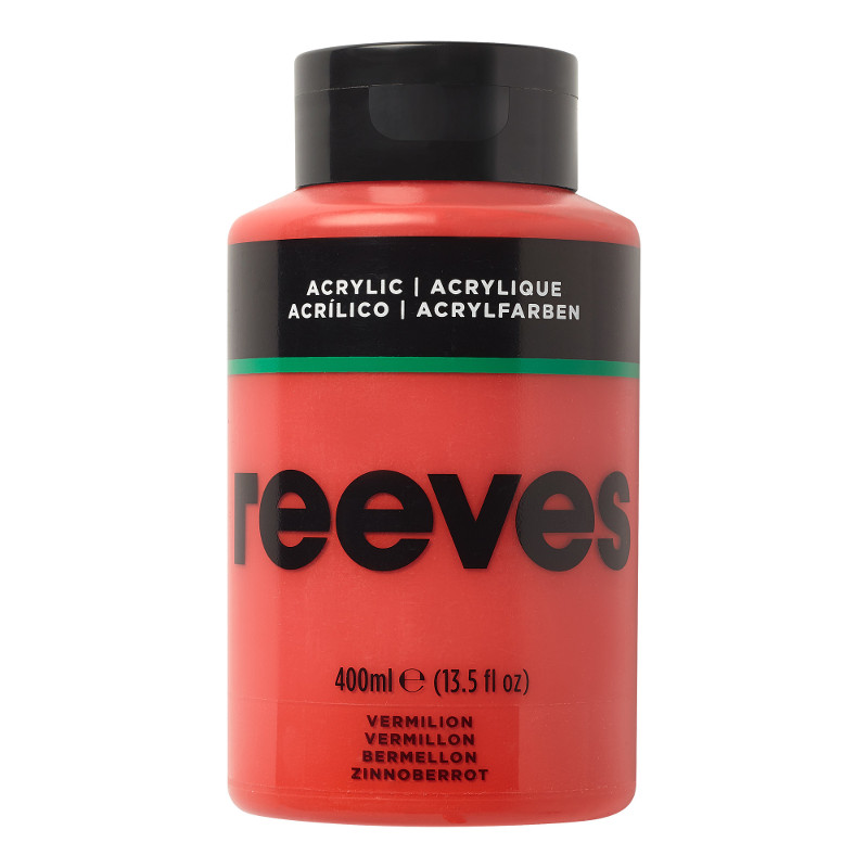 Akrylfärg Reeves 400ml VERMILION 220