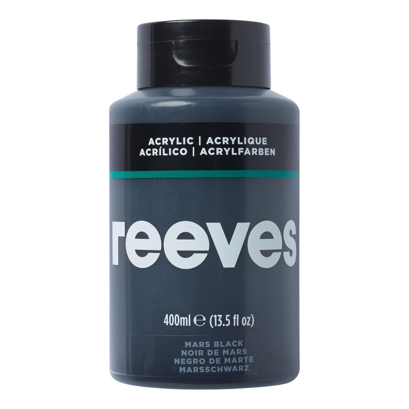 Akrylfärg Reeves 400ml MARS BLACK 630