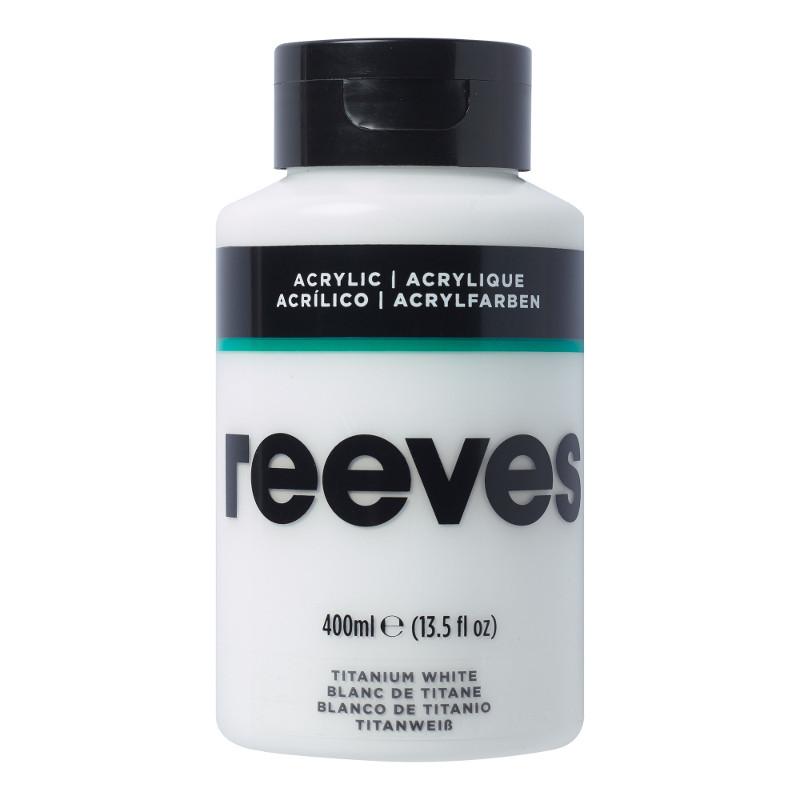 Akrylfärg Reeves 400ml TITANIUM WHITE 710