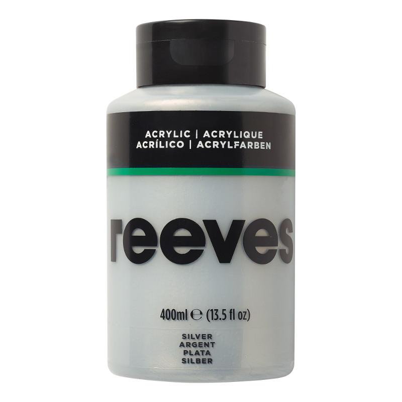 Akrylfärg Reeves 400ml SILVER 810