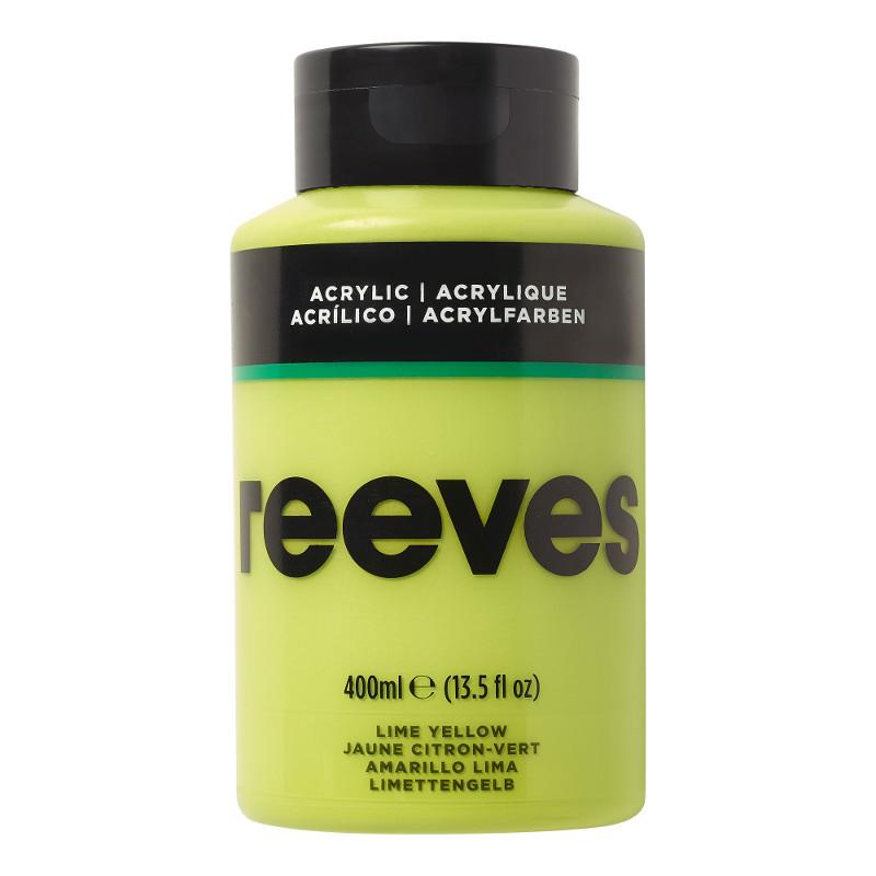 Akrylfärg Reeves 400ml LIME YELLOW 415