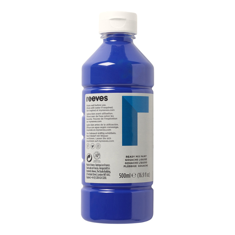 Skolfärg Redimix Reeves Intro 500 ml Brilliant blue