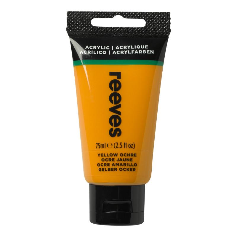 Akrylfärg Reeves 75ml Yellow ochre (5F)