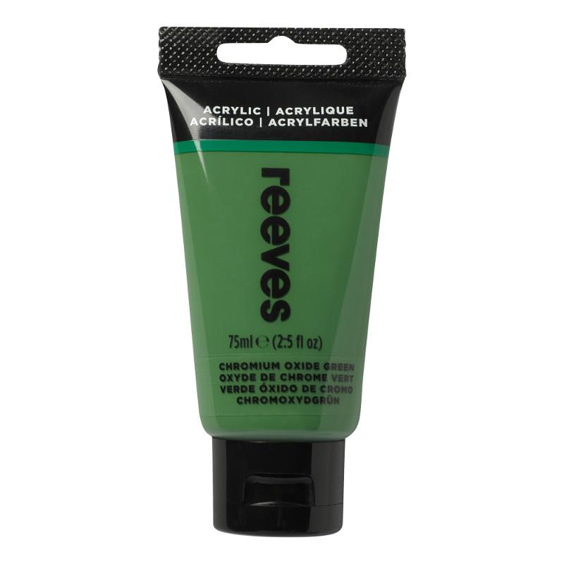 Akrylfärg Reeves 75ml Oxide chromium green (5F)