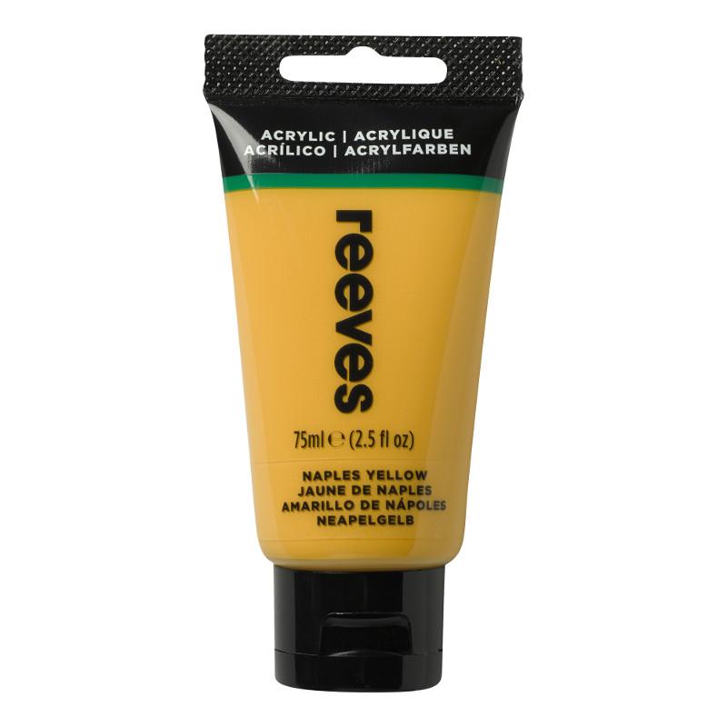Akrylfärg Reeves 75ml Naples yellow (5F)