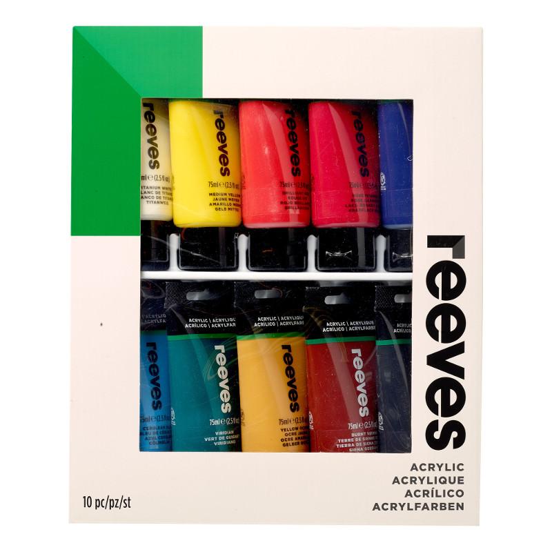 Akrylfärgset Reeves 10x75 ml tubset