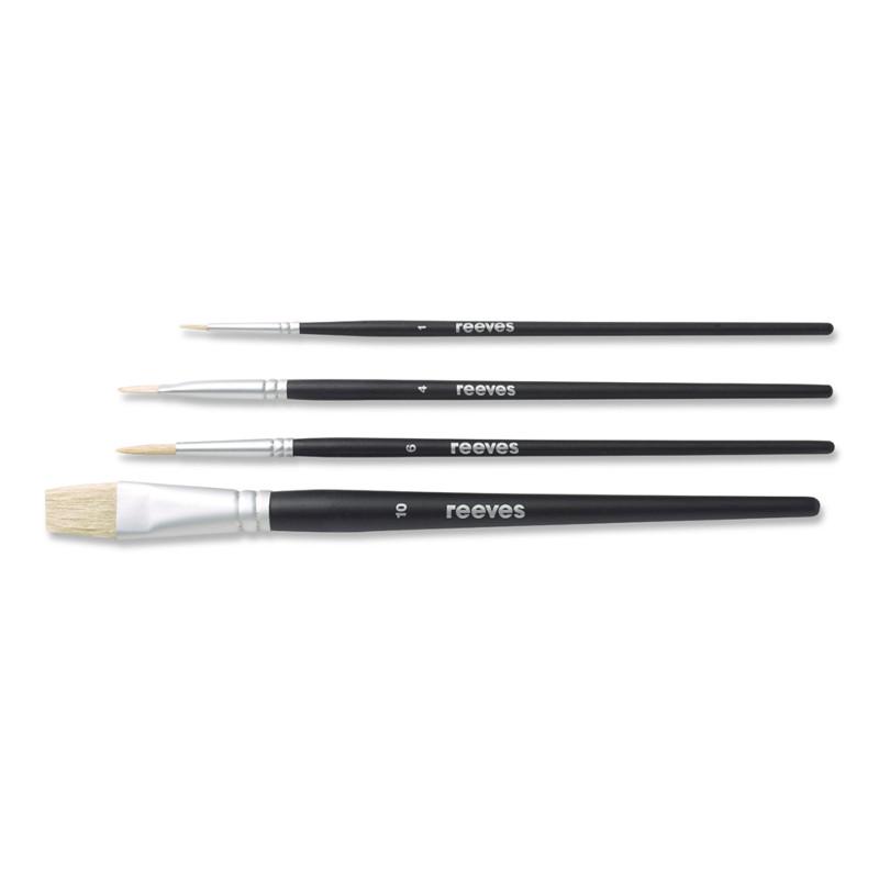 Svinborstpenselset Reeves Beginners brush set (SH) oil colour (6F)