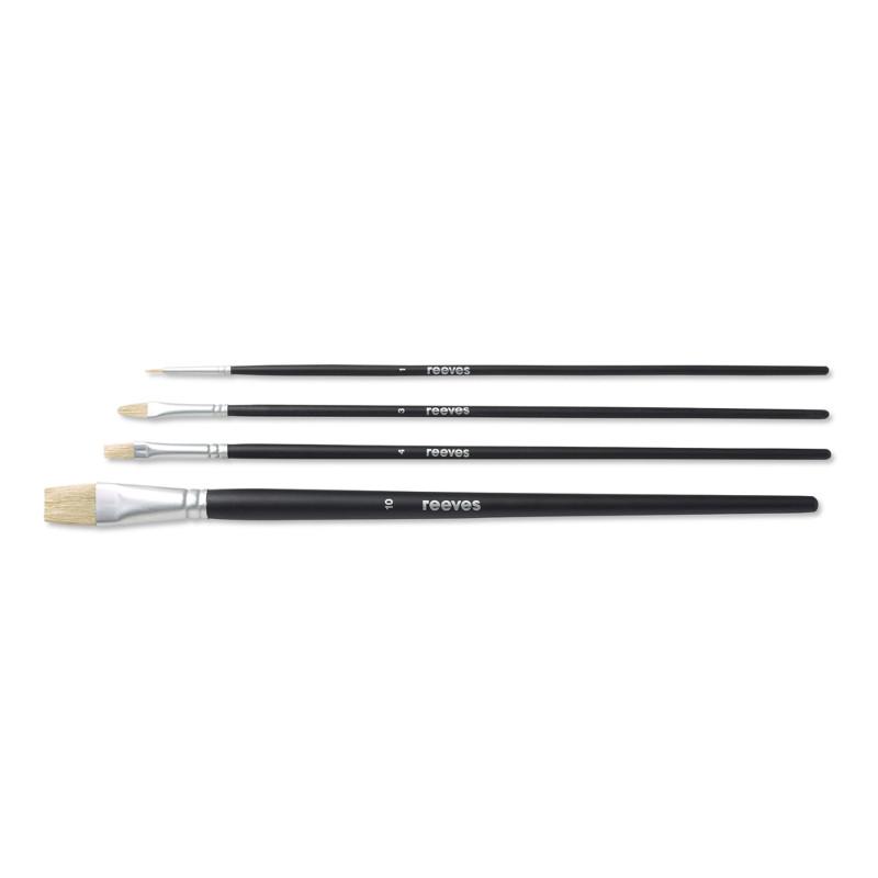 Svinborstpenselset Reeves Beginners brush set (LH) oil colour (6F)