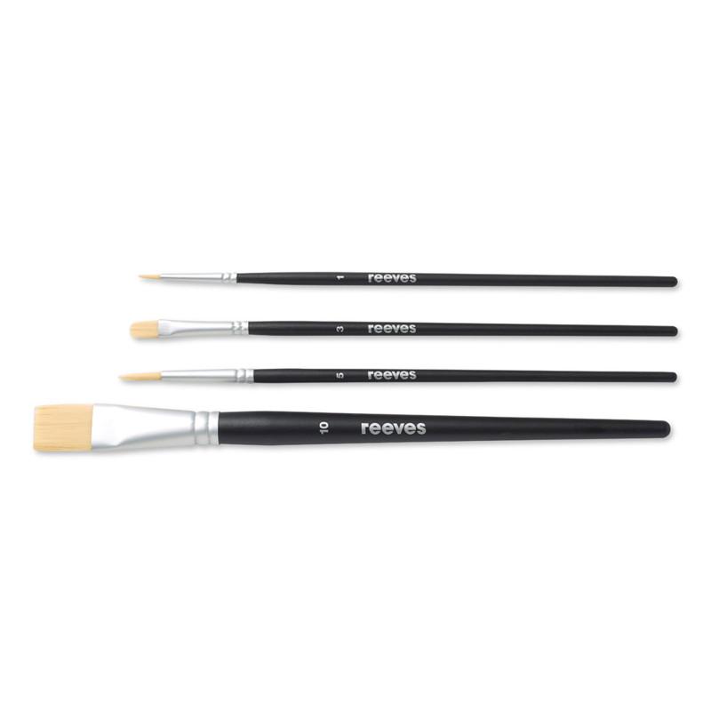 Syntetpenselset Reeves Beginners brush set (SH) acrylic (6F)