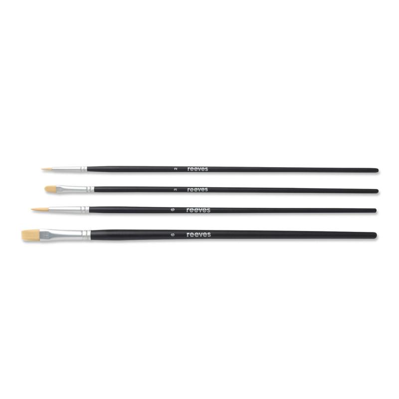 Syntetpenselset Reeves Beginners brush set (LH) acrylic (6F)