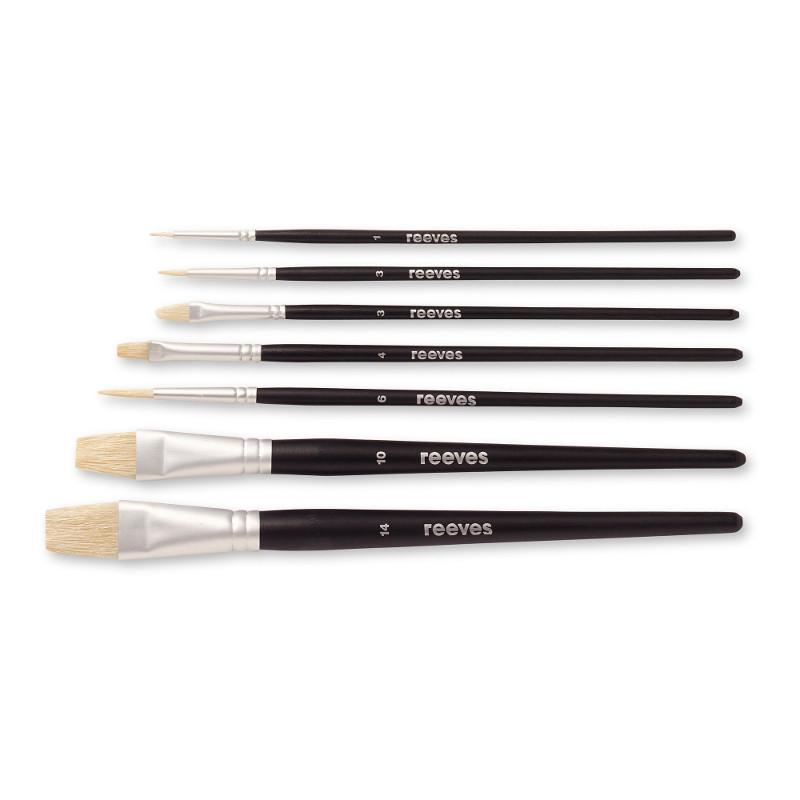 Svinborstpenselset Reeves Complete brush set (SH) oil colour (6F)